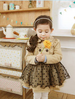 Wholesale Trench Tutu - Girl Trench Coat Wind Jacket Baby Dress Kids Clothes Outwear Autumn Winter 2 7Y