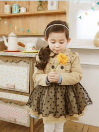 Wholesale Outwear Wind Jacket Baby - Girl Trench Coat Wind Jacket Baby Dress Kids Clothes Outwear Autumn Winter 2 7Y