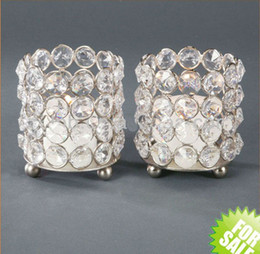 Wholesale Crystal Candle Stand Canada - no the stand including )Crystal tealight holder, Crystal candle holder