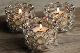 Wholesale Crystal Candle Stand Canada - Crystal tea light holder,crystal tea light votive,crystal candle holder
