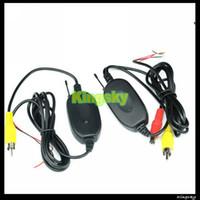 2.4ghz kablosuz verici toptan satış-Araba Reversing Kamera Monitör için 2.4Ghz Kablosuz RCA Verici Alıcı