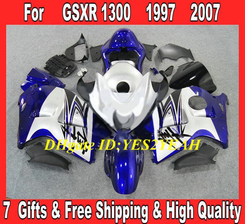 Kit de Carcaça de Injeção para 1996 2007 Hayabusa GSXR1300 GSX R1300 96 00 01 07 GSXR 1300 azul Carenagem de Carenagem SD13