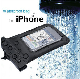 Wholesale Mp4 Leather Case - 155*105mm Underwater PVC Premium Waterproof Bag Case Pouch for Mobile phone Mp3 Mp4 Dry Bag XMAS Gift 500pcs lot
