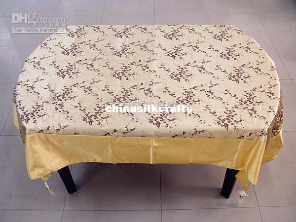 Yellow Rectangular Damask Tablecloths Table Cover Vintage Wedding Table  Cloth Holiday Decorative Tablecloth Size L 2 X W 1.5 M Free Oblong  Tablecloth Round ...