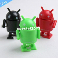 Wholesale Google Robots - Free Shipping 3pcs Fashion Google Android Robot Cute Robot Toy MINI Collectible Series Action Figure