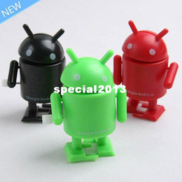 Wholesale Google Android Robot Toy - Free Shipping 3pcs Fashion Google Android Robot Cute Robot Toy MINI Collectible Series Action Figure