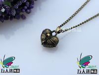 Wholesale Wish Prayer Box Locket - Wish Box Necklaces aromatherapy diffuser necklace Perfume Lockets Prayer Lockets