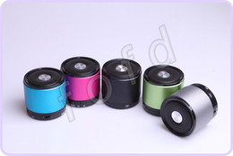 Wholesale Aluminum Iphone5 - Mini bluetooth speaker for iphone5 5G MP4 MP3 Tablet PC HIFI speaker Loudspeaker support TF card 20pcs