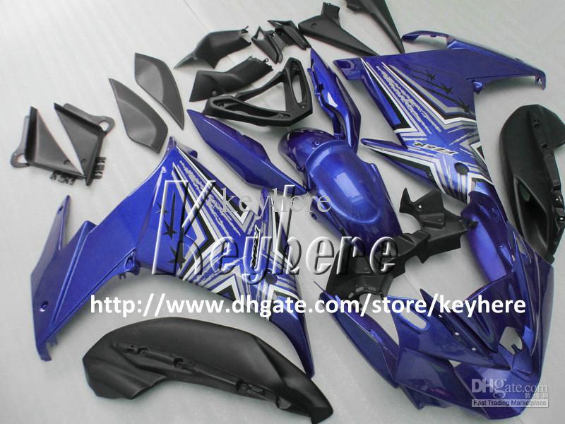 Livre 7 presentes personalizado carenagem ABS kit para YAMAHA FZ6R FZ 6R FZ-6R carenagens G3a alto grau azul branco preto peças da motocicleta