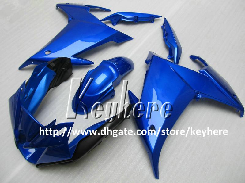Livre 7 presentes ABS kit de carenagem de plástico para YAMAHA FZ6R FZ 6R FZ-6R 01 carenagem G4b corpo azul preto aftermarket motocicleta carroçaria