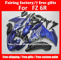 yamaha fz 6r fairings groihandel-Free 7 gifts custom ABS fairing kit for YAMAHA FZ6R FZ 6R FZ-6R fairings G3a high grade blue white black motorcycle parts