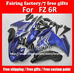 Wholesale Yamaha Fz - Free 7 gifts custom ABS fairing kit for YAMAHA FZ6R FZ 6R FZ-6R fairings G3a high grade blue white black motorcycle parts
