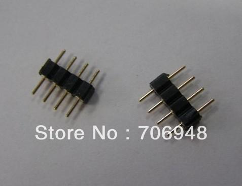 100pcs 4-pin macho conector adaptador para tiras de tira conduzidas rgb led light