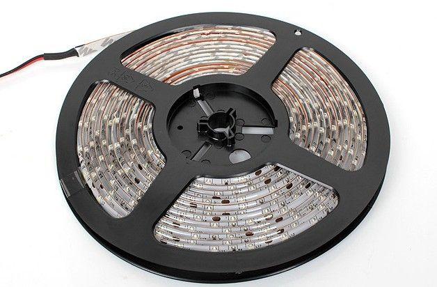 Ruban lumineux à LED 10M Ruban à LED bleu blanc rouge chaud 3528 SMD Flexible étanche 60LED / M Avec connecteur avec alimentation 12 4A 48W