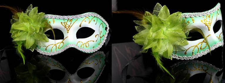 Novas mulheres Sexy Hallowmas traje veneziano meia máscara máscaras de máscaras máscaras de penas de flor festa de dança Teatro Prop Bola de Casamento Máscara Festiva