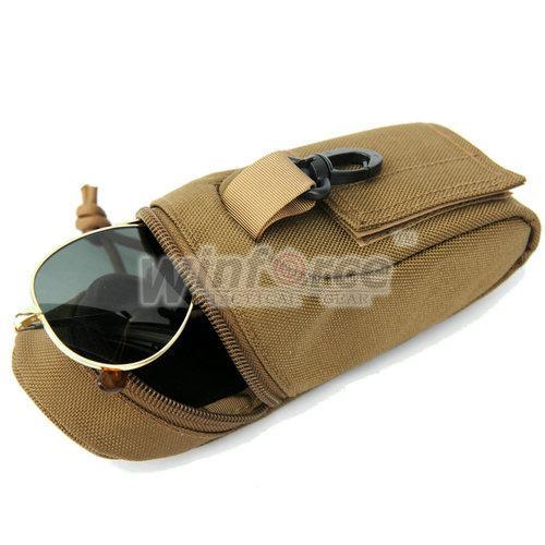 WINFORCE Etui tactique WU-24 Etui à lunettes / par 100% CORDURA / QUALITE GARANTIE / MILITAIRE ET PISCINE UTILITAIRE EXTÉRIEURE