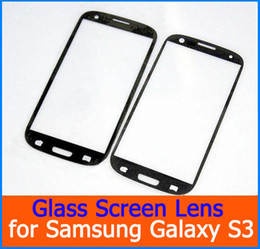 Wholesale Lcd Black Screen Galaxy S3 - High Quality Digitizer LCD Outer Glass Screen Lens white and Black external Glass lens for Samsung Galaxy s3 i9300