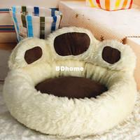diseños de productos únicos al por mayor-Diseño único Bear's Small dog beds lindo perro productos para mascotas envío gratis Brown Pink