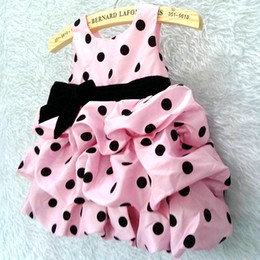 Wholesale Pettiskirts Tops - polka dot girls dresses pettiskirts one-piece layered dress TUTU girls jumper tops blouses children's dresses kids ball gown skirts LF4
