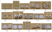 Wholesale Sterling Silver Heart Hoop Earring - Fashion (Jewelry Manufacturer) mixed 100 pcs a lot earrings 925 sterling silver jewelry factory price Fashion