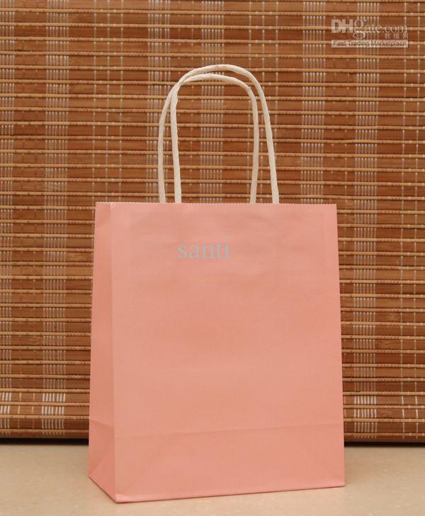 Kraft Paper Bag Festival Regalo Pacchetto Nuovo sacchetto di carta regalo in bianco, sacchetto di carta regalo alla moda