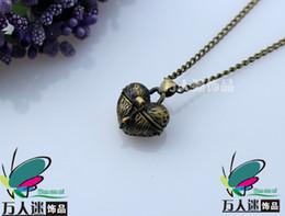 Wholesale Wish Prayer Box Locket - Wish Box Necklaces aromatherapy diffuser necklace Scent Lockets Prayer Lockets