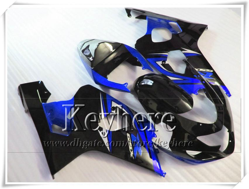 Gratis 7 geschenken Custom Fairing Kit voor Suzuki GSXR 600 750 04 05 GSXR600 R750 2004 2005 K4 GSXR600 BIFTERINGEN R4C NIEUWE BLAUW BLACK MOTORFIETS ONDERDELEN