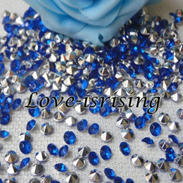 silver wedding confetti NZ - 30% Off-1000pcs 4.5mm Royal Blue With Silver Plated Diamond Confetti Acrylic Bead For Wedding Party Decoration New Arrivals