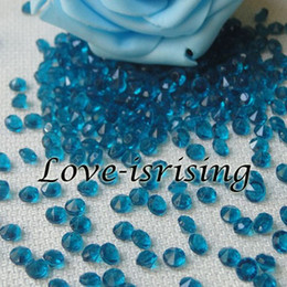 Wholesale Teal Blue Diamond Confetti - New Arrivals--30% Off-1000pcs 4.5mm Teal Blue Diamond Confetti For Wedding Decoration Wedding Favors