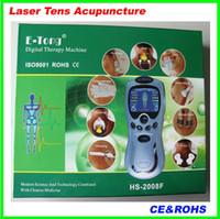 Wholesale Digital Machine Laser - 20pcs Newest design E-Tong Laser tens Acupuncture digital Therapy Machine massager pass CE and ROHS