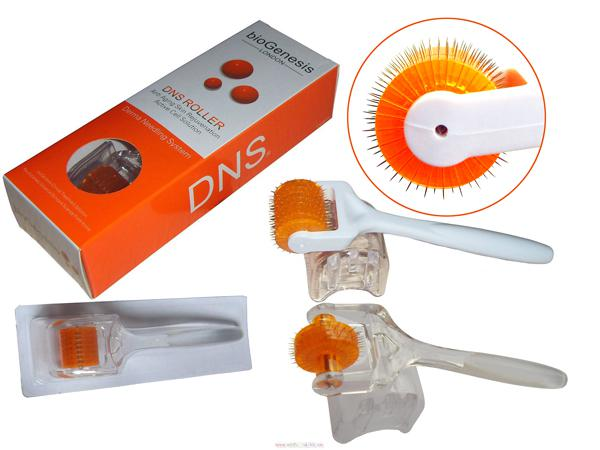 DNS Derma Roller Titanium 200 Needles Micro Needle Skin Roller for Face Massage