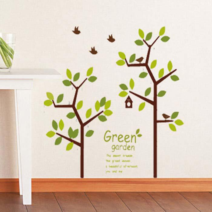 Family Tree Decor For Wall family tree picture photo frame tree wall quote art stickers vinyl