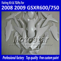 paint molding - 100 Injection molding fairings GSXR K8 GSXR600 GSXR750 all glossy white accept custom paint job