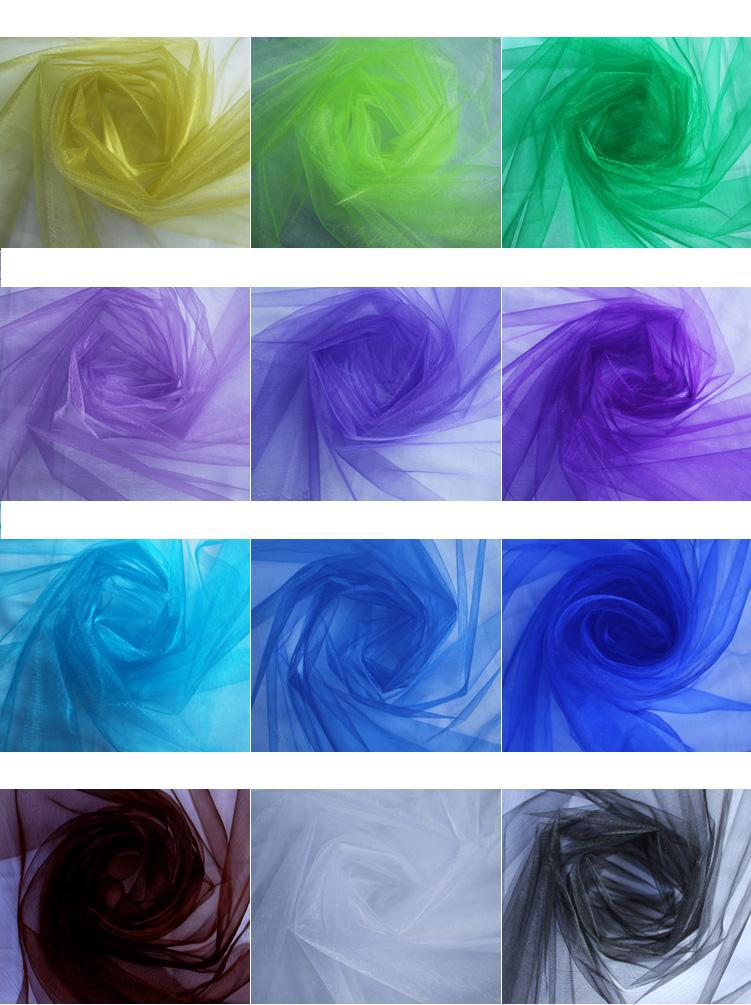 Beautiful 18 multi color wedding decoration tulle chair flower yarn beautiful 18 multi color wedding decoration tulle chair flower yarn background gauze curtain stair armrest wedding celebration supplies wholesale wedding junglespirit Image collections