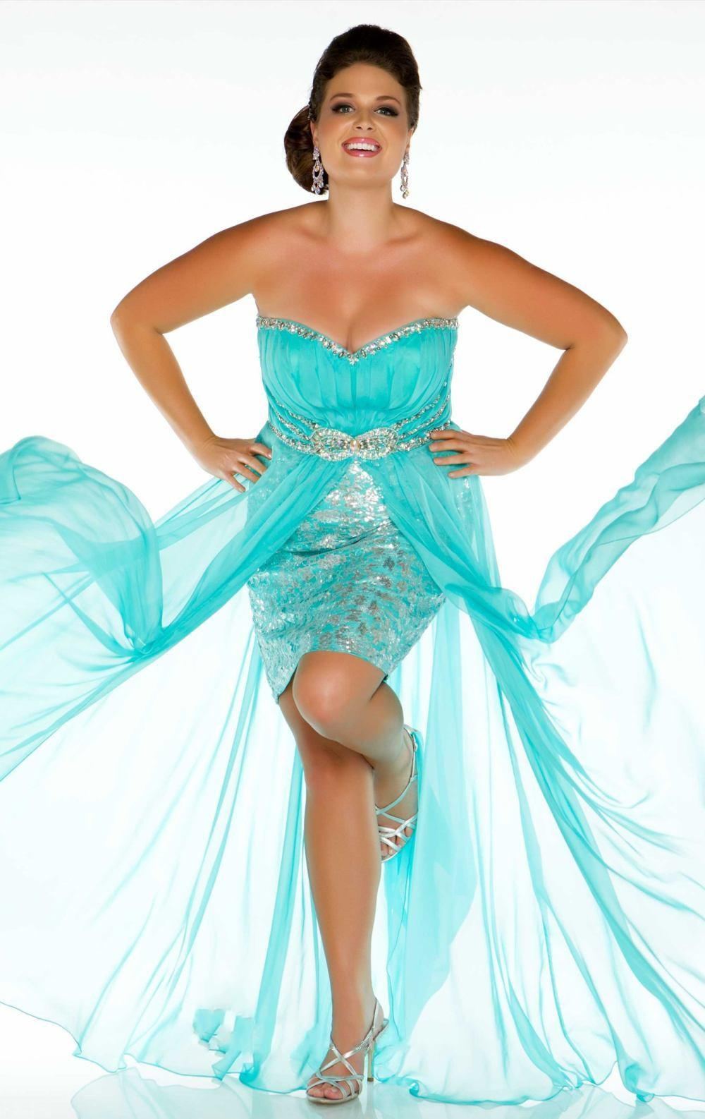 2015 Split Front Women Pageant Dresses Sweetheart A-line Hot Pink ...