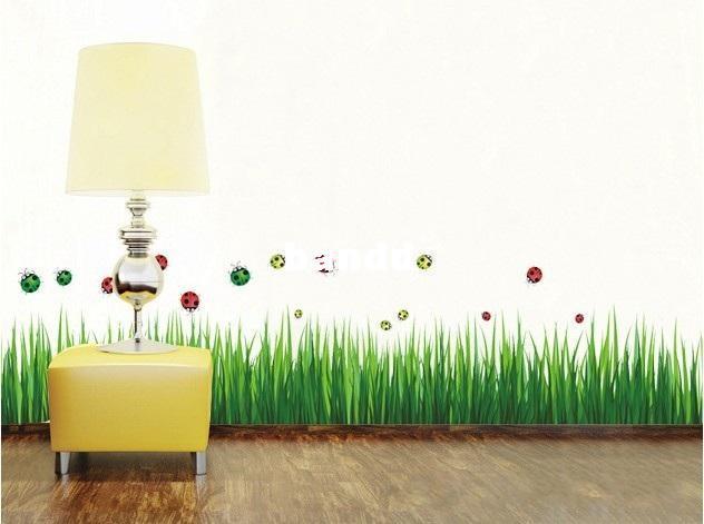 Green Grass Diy D Wall Sticker Removable Wall Decals Wall Decals - Wall decals grass