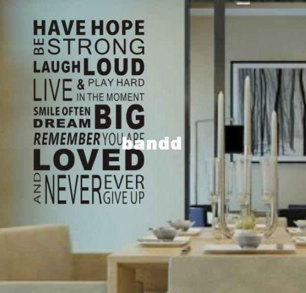 Have hope sticker 0878 home decor quotes office decoration for Office interior design quotes