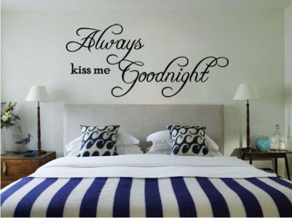 Always Kiss Me Goodnight Wall Art always kiss me goodnight removable vinyl wall art sticker diy 3d