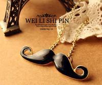 Wholesale Moustaches Necklaces - Vintage Farcicality Avantis Moustache Beard Cute Pendant Necklace Necklaces