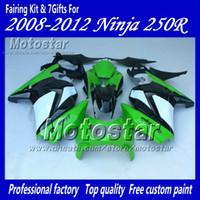 Wholesale abs race fairings online - Road racing fairings kit for Kawasaki Ninja R ZX250R ZX EX250 body repair fairing set XX107