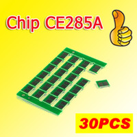 Wholesale wholesale hp cartridges - 30x CE285A HP285A toner cartridge chips compatible for HP P1102 1102W