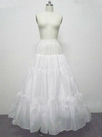 Gratis verzending A-lijn Full Town 4 Layer Geen Hoop Lengte Slip Stijl Bruiloft Petticoats