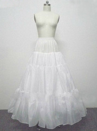 full hoop petticoat Canada - Free shipping A-Line Full Gown 4 Layer No Hoop Floor-length Slip Style Wedding Petticoats