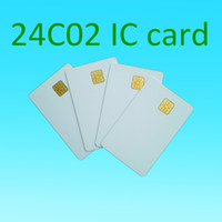 Wholesale Wholesalers Wholesale Blank Cards - Atmel 24c02 Blank contact IC card smart pvc card