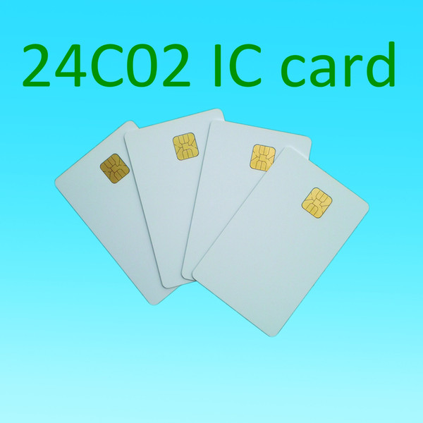 top popular Atmel 24c02 Blank contact IC card smart pvc card 2021