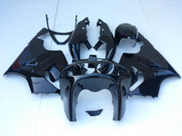 Wholesale 97 Kawasaki Zx7r - All glossy Black Fairings for Kawasaki Ninja ZX7R ZX-7R ZX 7R ZZR750 1996 - 2003 96 97 98 99 00 01 02 03