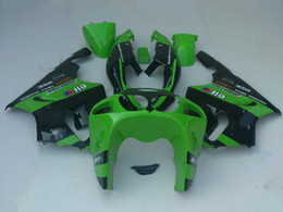 Fairings For Kawasaki Zzr Canada - Green black Fairing for KAWASAKI Ninja ZX7R ZX-7R fairings kit ZZR 750 1996 - 2003 96 97 98 99 00 01 02