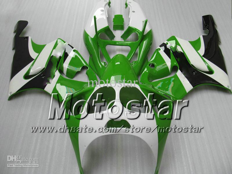 Green White Fairing kit for KAWASAKI ZX7R ZX-7R ZX 7R ZZR750 Ninja fairings 1996 - 2003 96 97 98 99 00 01 02 03