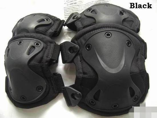 Ginocchiere e gomitiere di protezione tattici neri