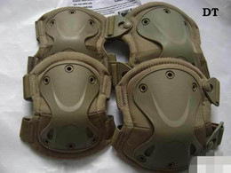 Tactical protection knee pads and elbow pads set dark earth